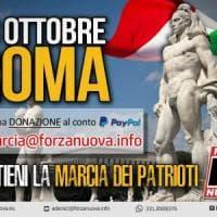 La marcia su Roma di Forza Nuova: