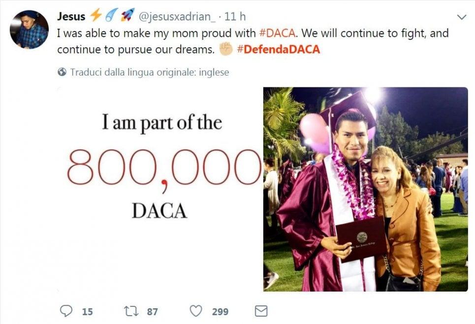 """Usa, i 'Dreamers' su Twitter: """"Anche se non vi riguarda, protestate per noi"""""""