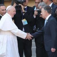 Colombia, Papa Francesco incontra presidente Santos: