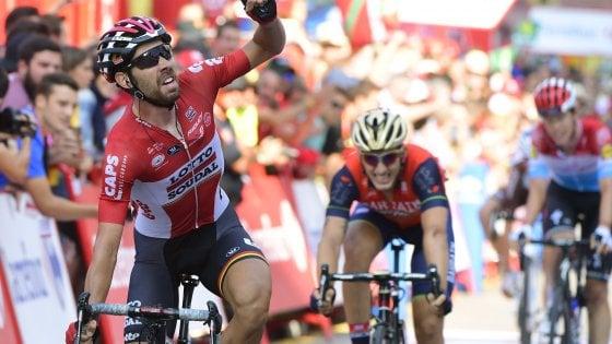 Ciclismo, Vuelta: volata vincente di De Gendt, Froome sempre leader
