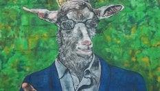 Sgarbi con la faccia da capra: cancellato il murale a Salemi