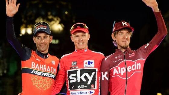 Ciclismo, Vuelta: Madrid incorona Froome. Trentin fa poker, ovazione per Contador