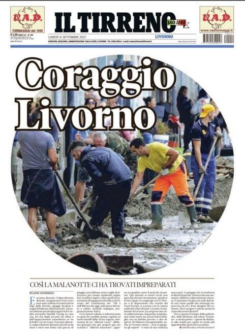 ''Coraggio Livorno'': sul Tirreno uno speciale di 30 pagine sull'alluvione