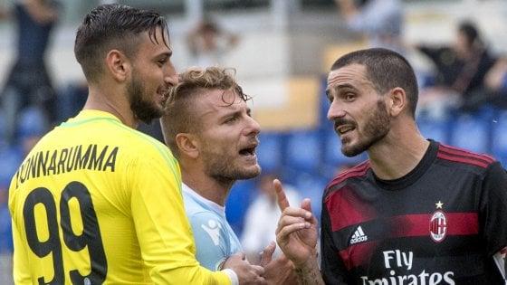 """Milan, l'incubo dopo il sogno: e Bonucci diventa un caso. Montella: """"Noi distratti dai complimenti"""""""