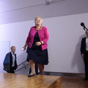La prima ministra norvegese, Erna Solberg