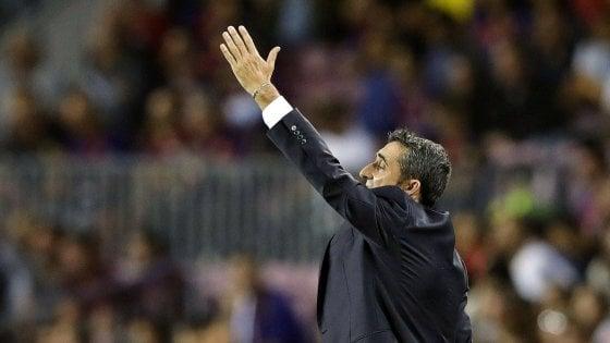 """Barcellona, Valverde: """"Se Messi ha il pallone, per noi accadono cose buone"""""""