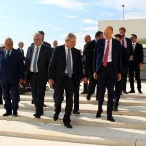 Il presidente Gentiloni in una recente visita in Puglia, per la Fiera del Levante