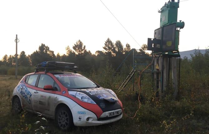 Nissan Leaf, sulla via della Mongolia