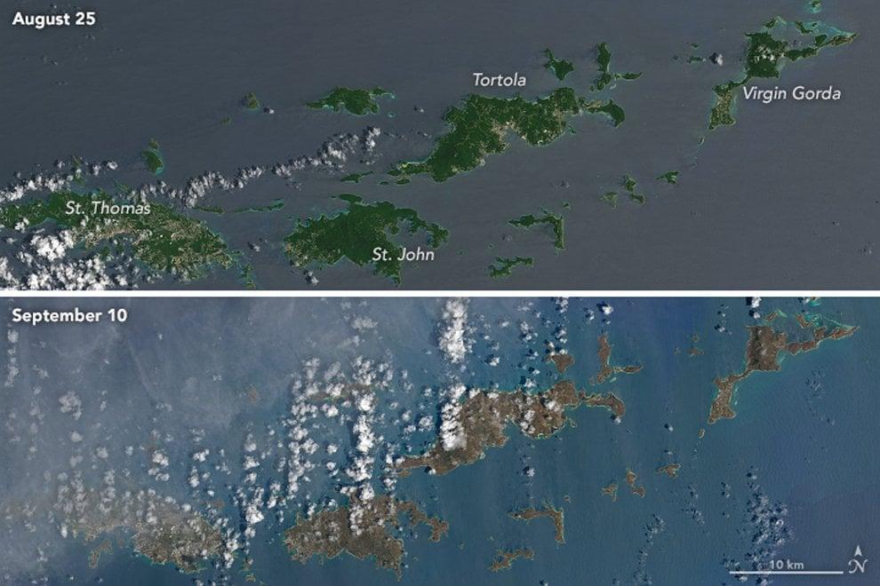Dopo Irma, i Caraibi hanno cambiato colore: le immagini dal satellite