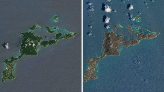 Prima e dopo Irma, le isole Vergini hanno cambiato colore