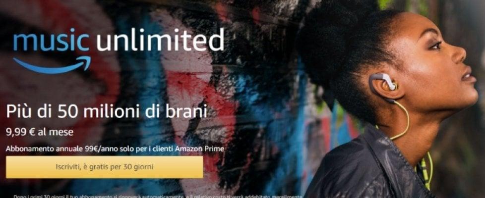 Amazon come Spotify: arriva Music Unlimited