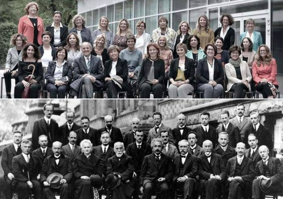 Trento, 28 donne e un solo uomo: l'Università ribalta la celebre foto di Solvay