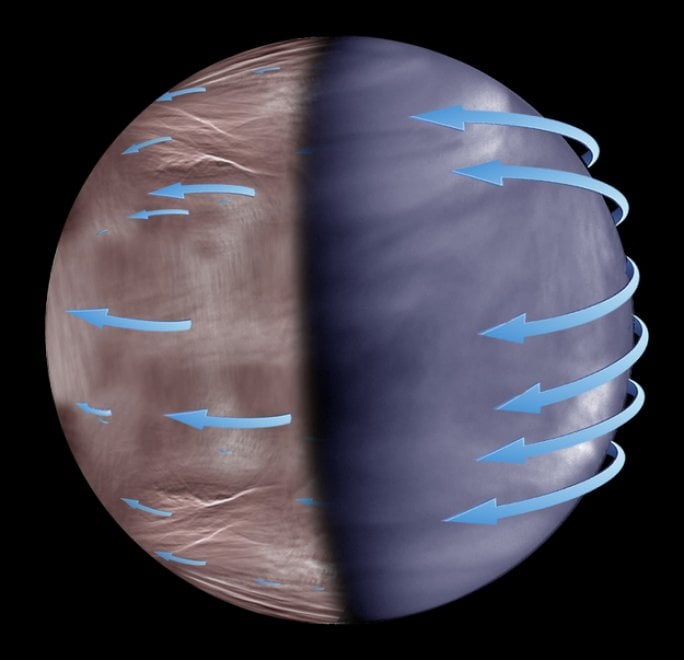 Nuove forme delle nuvole nel cielo notturno di Venere