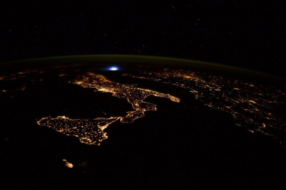 Notte stellata sull'Italia: lo scatto di Paolo Nespoli dalla Iss