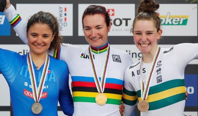 Ciclismo, Mondiali: doppietta azzurra nella crono jr donne con Pirrone e Vigilia