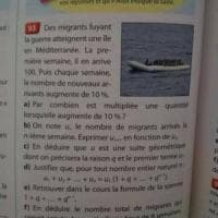 """""""Se in una settimana sbarcano 100 migranti..."""": bufera in Francia su libro di matematica"""