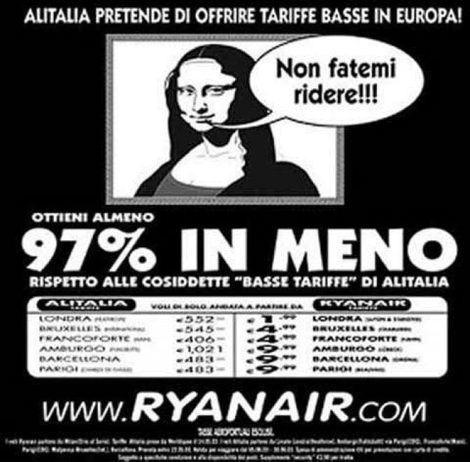"""Bossi, Berlusconi, Alitalia: gli spot """"boomerang"""" di Ryanair"""