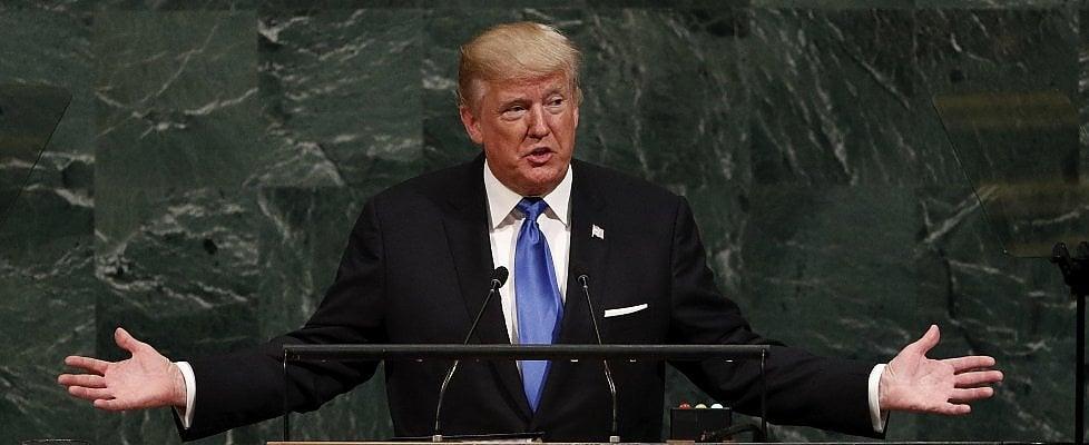 """La prima volta di Trump all'Onu: """"Se Rocket Man attacca l'unica scelta sarà distruggere la Corea"""""""