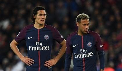 Psg, alta tensione nello spogliatoio Neymar e Cavani sfiorano la rissa