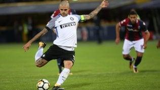 Bologna-Inter 1-1, il rigore di Icardi risponde al dominio rossoblù