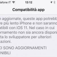 iOS 11, qualche app potrebbe non funzionare: ecco come come scoprirle