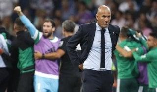"""Spagna, la stampa processa Zidane: """"Triste Real, -7 da Barça"""""""