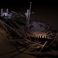Un cimitero di navi sul fondo del Mar Nero