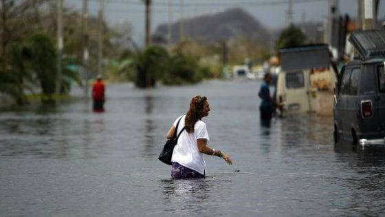 Uragano Maria, crolla diga a Porto Rico:  70 mila abitanti in fuga da due cittadine inondate