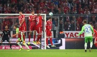 Germania, frenata per Ancelotti: il Bayern si fa rimontare due gol dal Wolfsburg