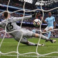 Inghilterra, comanda sempre Manchester: il City ne fa 5, United di misura
