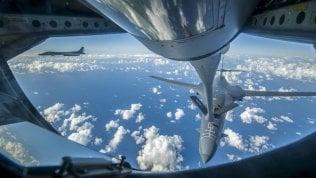 I bombardieri Usa in volo vicino alle coste della Corea del Nord