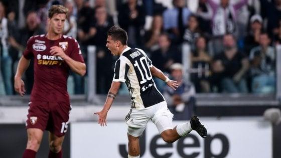 Juventus-Torino 4-0: Dybala show in un derby senza storia
