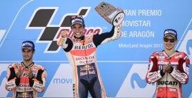 Marquez vince e va in fuga Rossi gigante, è quinto