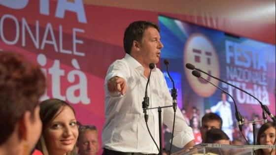 """Renzi al centrosinistra: """"Siamo contro tutti i populismi, ma basta litigi o perderemo le elezioni"""""""