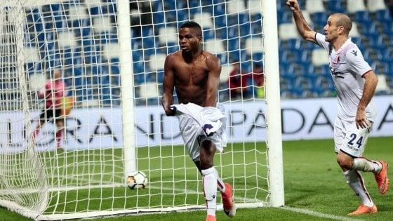 Sassuolo-Bologna 0-1: decide il baby Okwonkwo all'89°