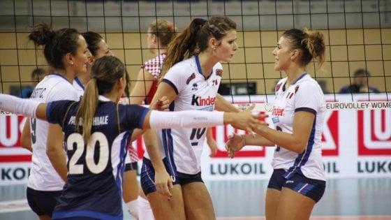 Volley, Europei: le azzurre centrano subito i quarti, Croazia battuta al tie break