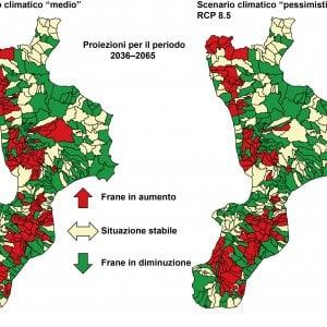 Aumentano le frane al Sud Italia a causa del cambiamento climatico
