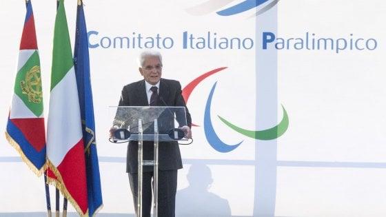 """Tre Fontane, aperto il centro Cip. Mattarella: """"Realizzato sogno paralimpico"""""""