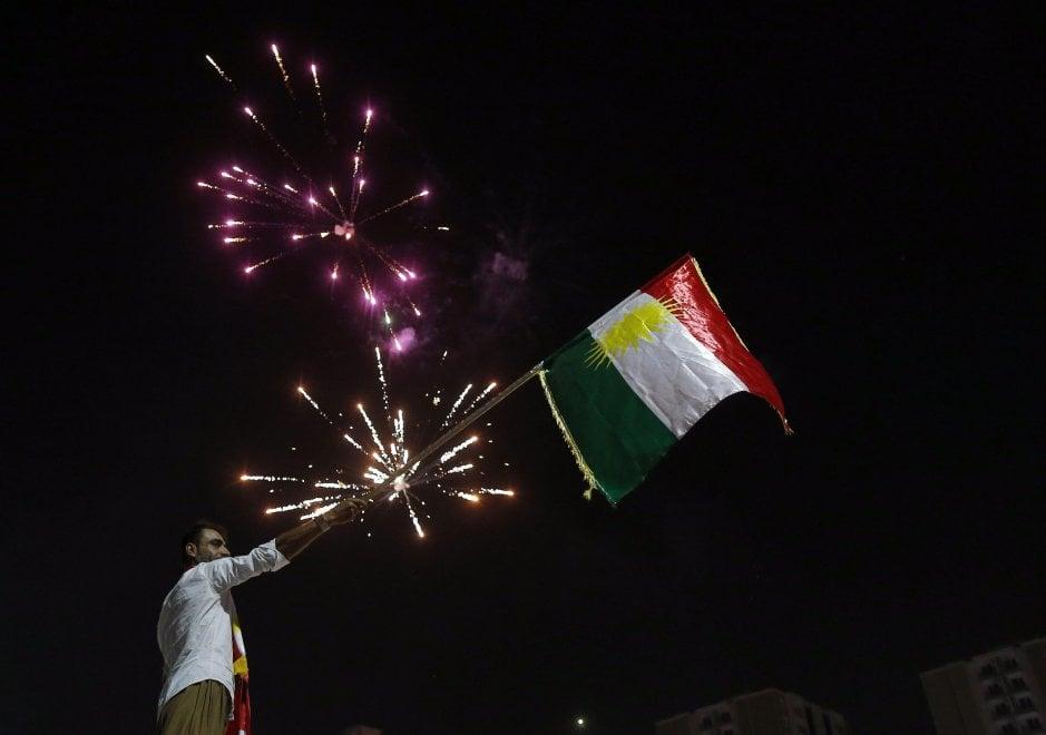 Iraq, la festa del curdi dopo il voto per il refendum sull'indipendenza