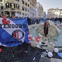 Champions, tifosi del Feyenoord a Napoli: disordini e tre arresti