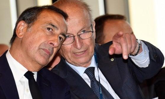 Il sindaco Giuseppe Sala (sinistra) e l'ad di Bnaca Sella