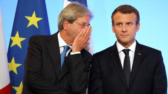 "Vertice Francia-Italia, Macron a Gentiloni: ""Vinciamo insieme su Stx-Fincantieri e la Torino-Lione"""