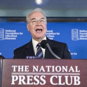 """Usa, scandalo voli privati del ministro Salute Price: """"Rimborserò il governo"""""""
