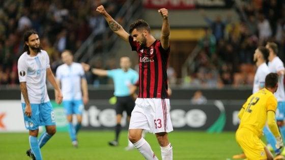 Europa League, Milan-Rijeka 3-2: Cutrone decide al 94', ma che brividi