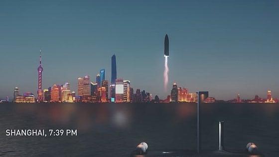 La nuova sfida di Elon Musk: da Londra a New York in 29 minuti con il razzo Space X