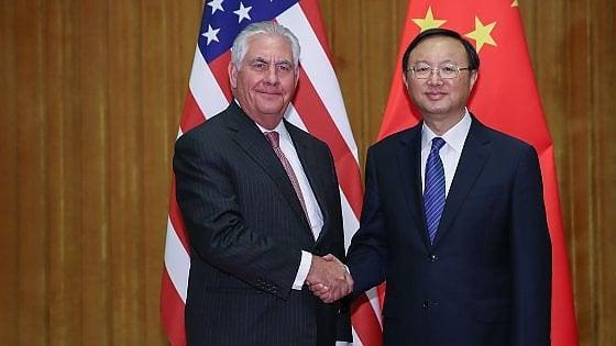 """Stati Uniti, Tillerson: """"Contatti aperti con la Corea del Nord per soluzione su nucleare"""""""