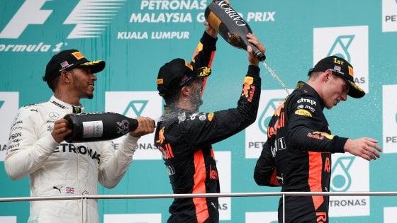 F1, Verstappen: ''Vittoria in una stagione sfortunata''. Vettel: ''Speravo nel podio''