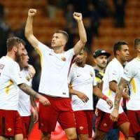 Milan-Roma 0-2: Dzeko e Florenzi fanno sorridere Di Francesco