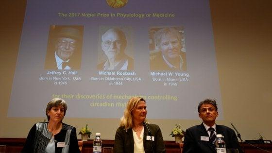 Nobel medicina 2017 a Hall, Rosbash e Young: hanno scoperto l'orologio biologico