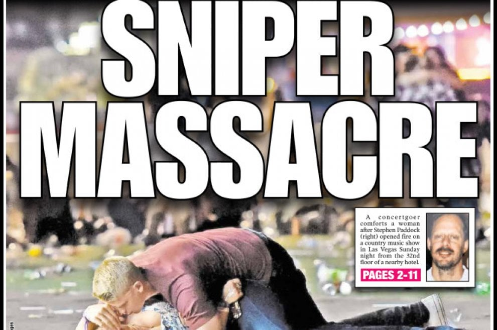 Strage a Las Vegas, la notizia sulle prime pagine dei quotidiani internazionali